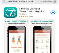 Seven Minute Fitness App in Russia