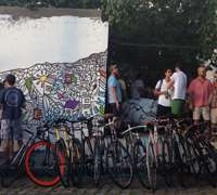 Bike party at Sao Paulo's Tag & Juice