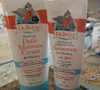 Dr Robin's cream and sunscreen for children