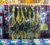 Bulk ginseng for sale in Seoul's Night Market