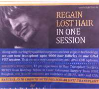Fast-acting results drive Bangalore beauty marketing for balding men