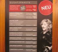 Services card at Madonna's Hard Candy gym in Berlin