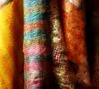 Kantha Stoles bring colorful tradition into drab winter wardrobes