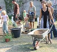 Gardening, Milan, Italy