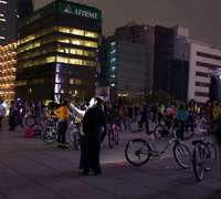 And organized night bike ride in Mexico City