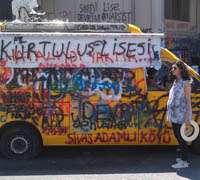 Gazi Starbucks close in Taksim Square due to boycotting
