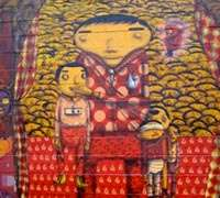 Os Gemeos - Detail from Coney Island Dreamland