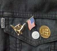 US Flag on Levi Jeans, Los Angeles