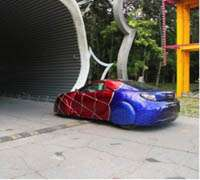 Spiderman auto detailing in Shanghai