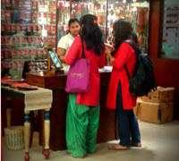 Shopping at Delhi's Fab India