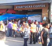 Gazi Starbucks close in Taksim Square due to boycotting