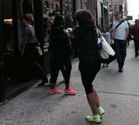 Bright colors accent the active-day wear to night-wear trend in NYC